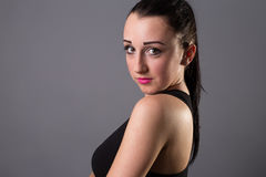Portraits lovely girl in the studio Royalty Free Stock Photo