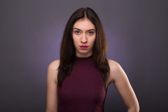 Portraits lovely girl in the studio Royalty Free Stock Photography