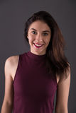 Portraits lovely girl in the studio Royalty Free Stock Photos