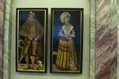 Portraits by Lucas Cranach Royalty Free Stock Photo