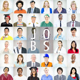 Portraits of Multiethnic Mixed Occupations People.  Royalty Free Stock Image