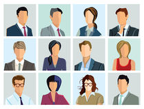 Portraits of people. Headshot portraits of men and women in business attire Royalty Free Stock Image