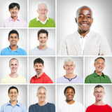 Portraits of Smiling Multi Ethnic Men Stock Photos