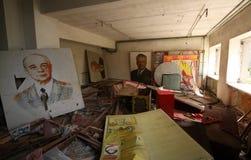 Portraits soviétiques abandonnés, tourisme extrême à Chernobyl Photos libres de droits