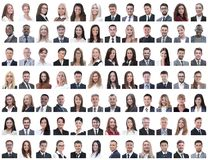 Portraits of successful employees isolated on a white royalty free stock photography