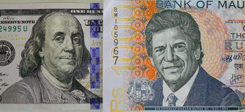 Portraits sur des billets de banque Photos libres de droits