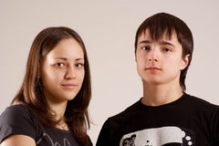 Portraits of the teenagers Stock Photos
