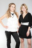 Portraits of two beautiful girls. Photographing of two nice girls royalty free stock photos