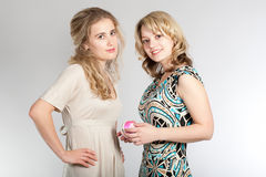 Portraits of two beautiful girls Royalty Free Stock Photography
