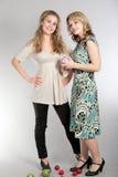 Portraits of two beautiful girls Stock Photo