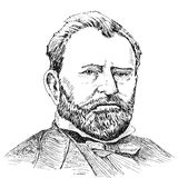 Portraits of Ulysses S. Grant Stock Photo