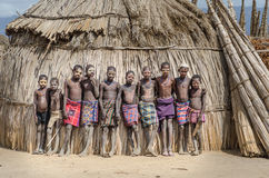 Portraits of unidentified boys from Arbore tribe, Ethiopia Stock Photography