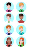 Portraits of various people tech support. Stock Photography