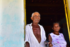 Portraits of the word. Alagoas. Brazil. Couple of natives from the town of Tapera, city of New Church, state of Alagoas Brazil Stock Photography