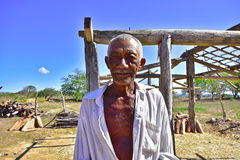 Portraits of the word. Alagoas. Brazil. Native of the Brazilian drought region. Village of Tapera, city of new church, state of Alagoas. Brazil Royalty Free Stock Images