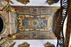 Portraits of the world. Alagoas Brazil. The beautiful ceiling of the hostorica catholic church of our lady of the chains, city of Penedo. State of Alagoas Stock Photo