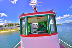 Portraits of the world. Alagoas. Brazil. Boat driver that crosses the cities of Penedo and Santana do San Francisco. State of Alagoas and Sergipe, Brazil Stock Photography