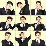 young man with different emotions stock photography