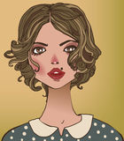 Portraits of young woman. Portraits of young beautiful women royalty free illustration