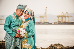 Portraiture of just married couple Stock Photography