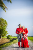 Portraiture of just married couple Royalty Free Stock Photography