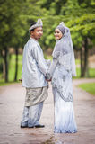 Portraiture of just married couple Royalty Free Stock Image