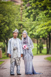 Portraiture of just married couple Stock Photo
