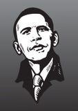 Portraitzeichnung von Barack Obama Stockbilder