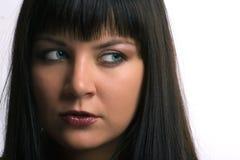 Portrasit piękna brunetki dziewczyna zdjęcie stock