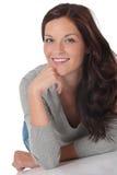 Portrat de la mujer feliz hermosa foto de archivo libre de regalías