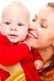 Portrat der Mutter und des Schätzchens Lizenzfreies Stockbild