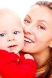 Portrat der Mutter und des Schätzchens Lizenzfreie Stockbilder