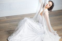 Portrat di una sposa elegante Fotografia Stock Libera da Diritti
