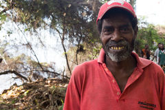 Portrat of a melanesian man. Royalty Free Stock Images