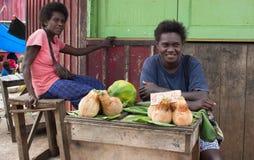 Portrat of a melanesian woman. Stock Photography