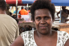 Portrat of a melanesian woman. Stock Images