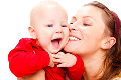 Portrat of mother and baby Stock Images
