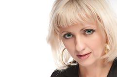 Portrate d'une blonde aux yeux verts Photos libres de droits