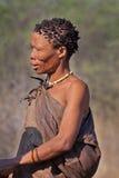 Portrate van Bosjesmanvrouw in Botswana Royalty-vrije Stock Foto