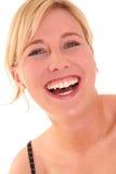 Portrate van een gelukkige jonge vrouw II Stock Foto