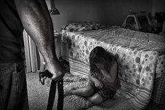 Portrayal of Child abuse Stock Images