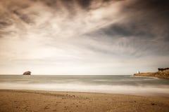 Portreath海景射击 图库摄影