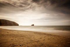 Portreath海景射击 库存照片