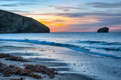 Portreath Beach Cornwall Stock Images