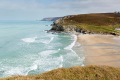 Portreath coast North Cornwall England UK between St Agnes and Godrevy Stock Image