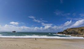 Portreath coastline at  Cornwall Stock Photography