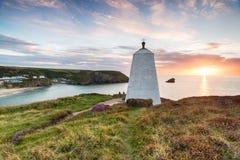 Portreath on the Cornish Coast Stock Photos