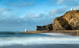 Portreath on the Cornwall Coast Royalty Free Stock Photos