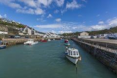 Portreath fishing harbor at  Cornwall Stock Photos