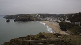 Portreath North Cornwall England UK. Between St Agnes and Godrevy on the Heritage Coast stock video footage